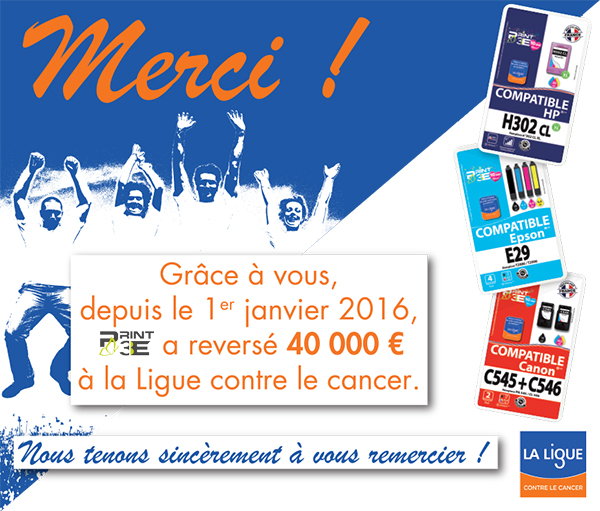 Remerciements Print3E - Ligue contre le cancer